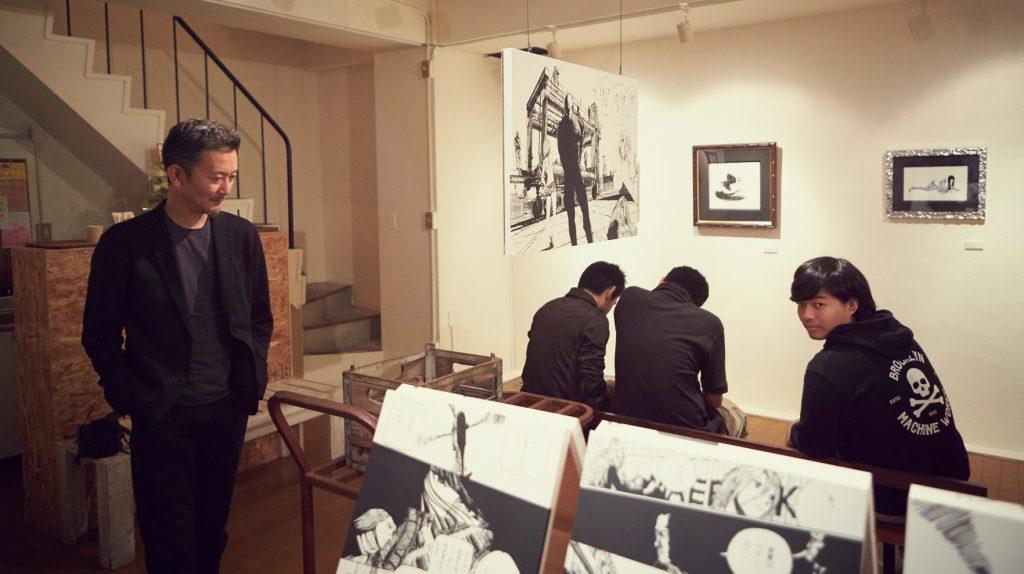Eldo à la galerie Maruse, Tokyo.