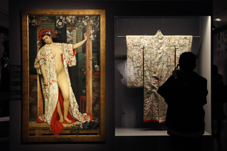 """""""Japonaise au bain"""" de Tissot (crédit : AFP)."""